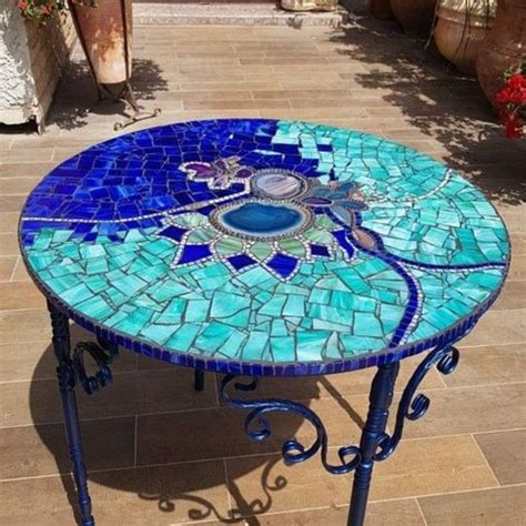 Mosaic Glass Table Diy