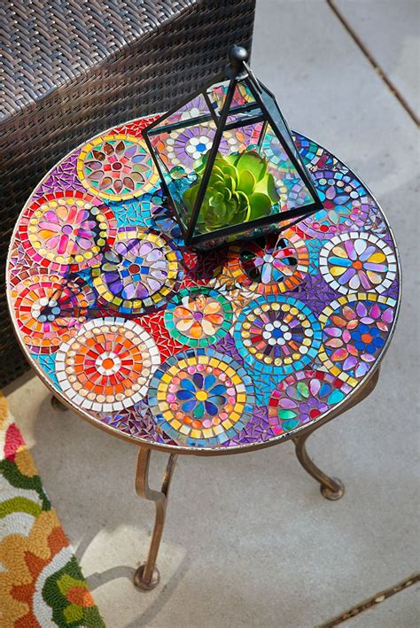 Mosaic Mirror Table Diy Pipe