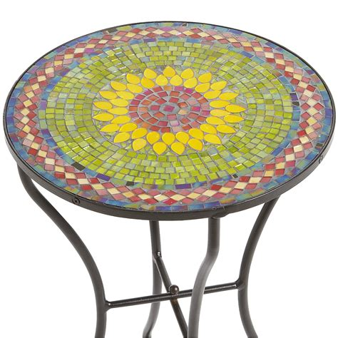 Mosaic Tile Side Table