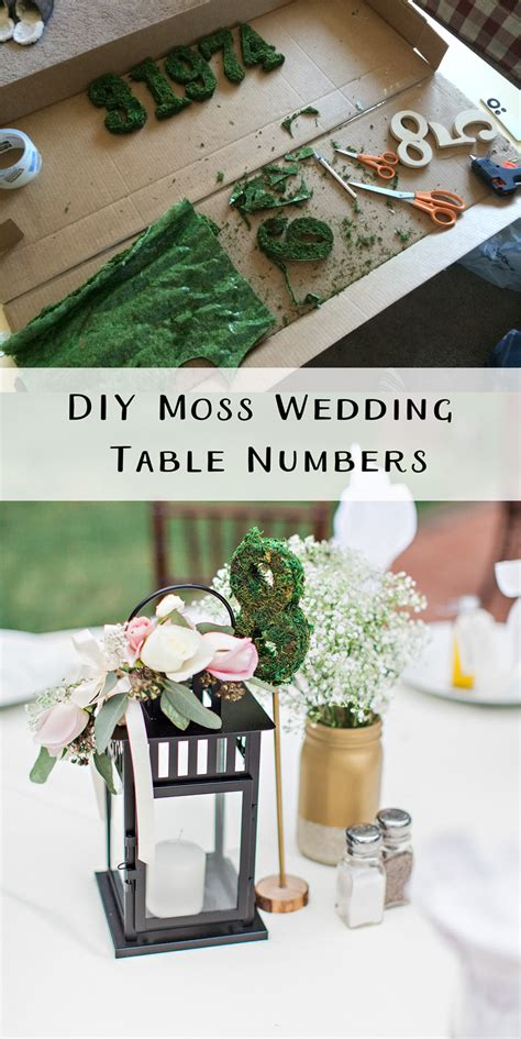 Moss Table Numbers Diy