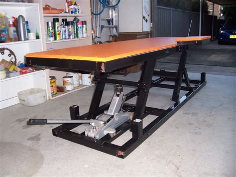 Motorcycle Lift Table Workbench Plans