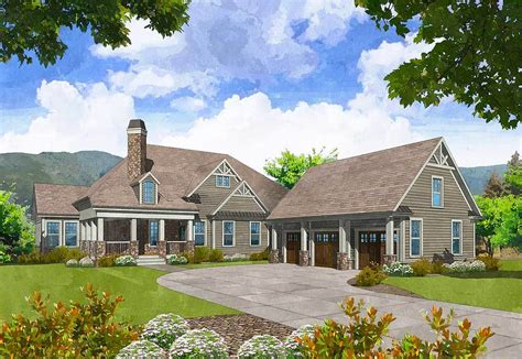 Mountain Home Plans With Detached Garage