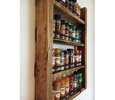 Best Mounted spice rack wood
