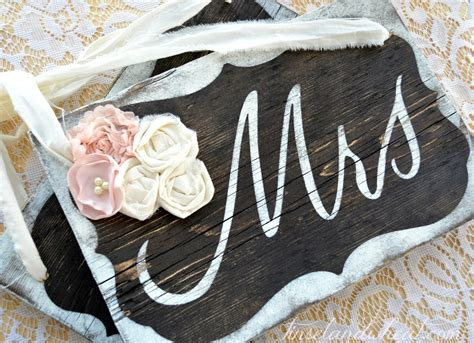 Mr And Mrs Chair Signs Diy