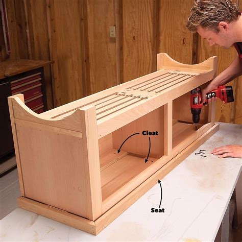 Mudroom Coat Rack Bench Plans