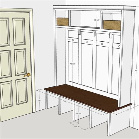 Mudroom Locker Plans With Dimensions