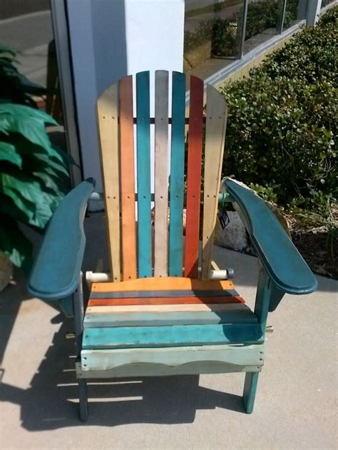 Multi-Colored-Plastic-Adirondack-Chairs