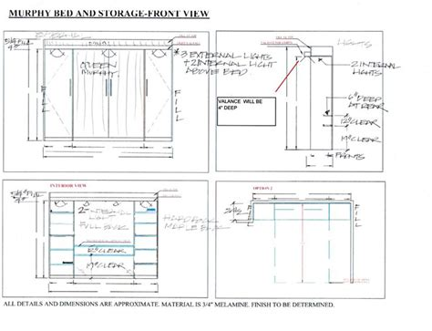 Murphy Bed Drawings PDF File