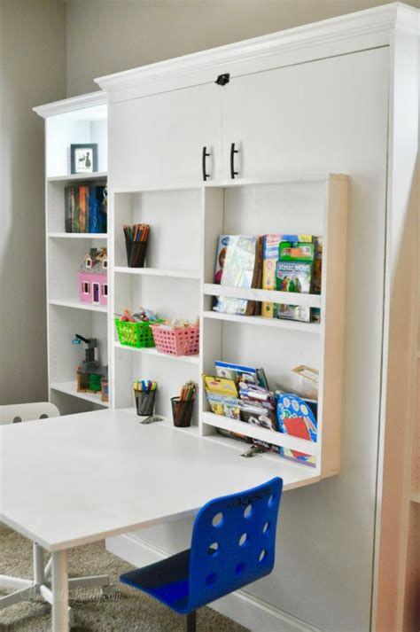 Murphy Bed With Table Diy With Shelf