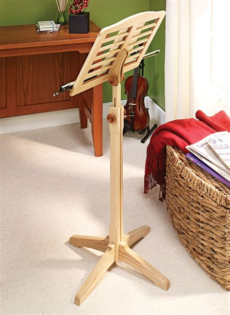 Music Stand Woodworking Project