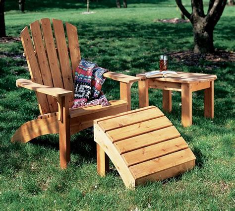 Muskoka Chair Footstool Plans Woodworking