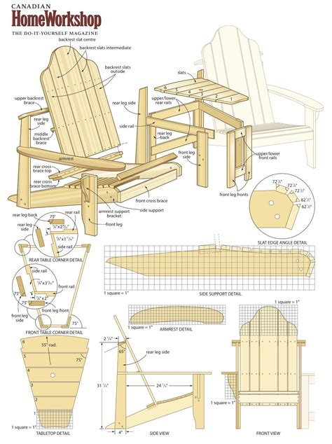 Muskoka Chair Plans DIY Patio