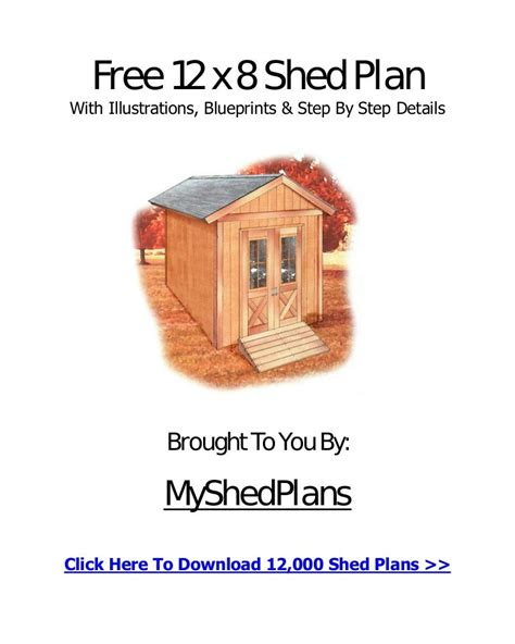 My Shed Plans Download