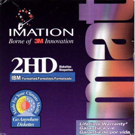 NEW Imation 25 Pack 2HD 3.5' 1.44 Floppy Disks IBM Formatted