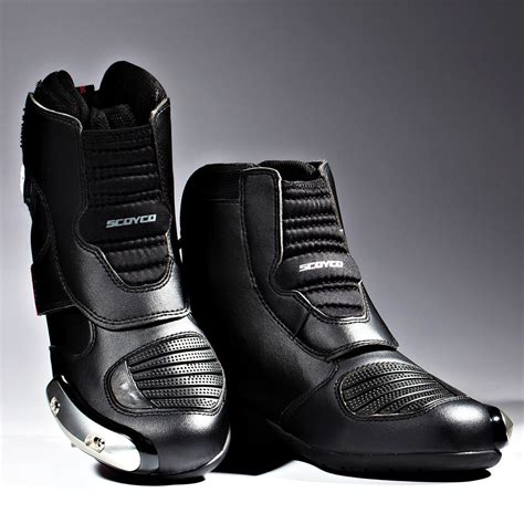 NEW Men's Motorcycle Boots Black Motocross MX Racing Black