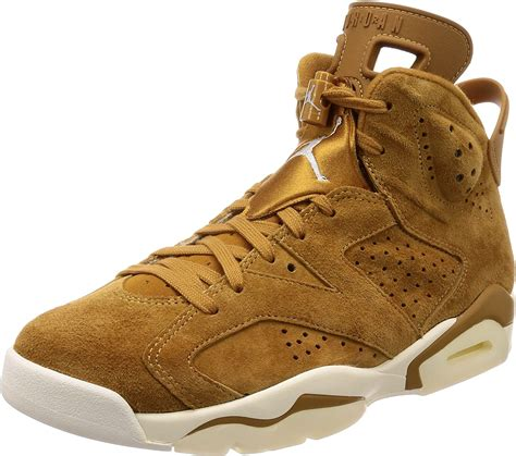 NIKE Men's Air Jordan 6 Retro Hi Top Basketball Synthetic/Fabric Sneakers