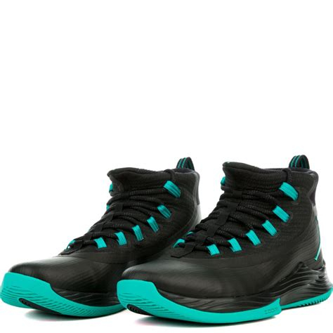 NIKE Mens Jordan Ultra Fly 2, Black/Clear Jade-Black, 8