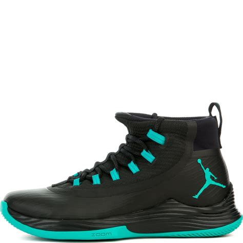 NIKE Mens Jordan Ultra Fly 2, Black/Clear Jade-Black, 9