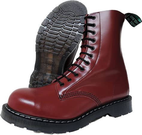 NPS Men´s Hand Made in England 11 Eye Cherry Red Steel Toe Boots