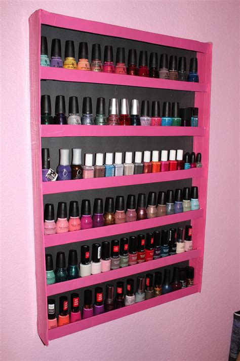 Nail Polish Rack Wood Diy Mdf