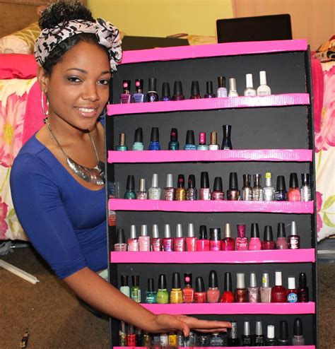 Nail Polish Storage Rack Diy
