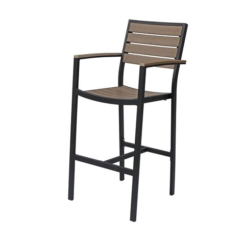 Napa Bar Stacking Patio Bar Stool By Source Contract