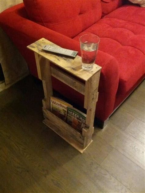 Narrow End Table Diy Pallet