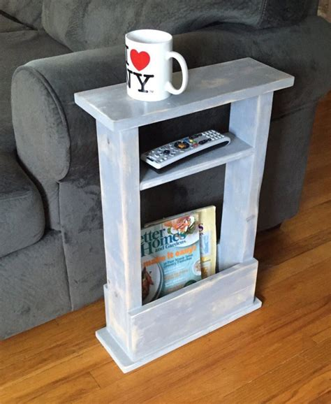 Narrow End Table Diy With Wire