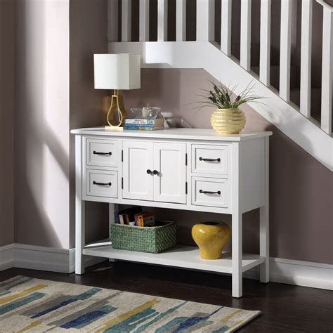 Narrow Entry Table With Storage