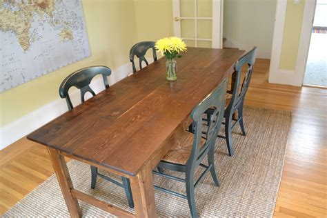 Narrow Farmhouse Table Diy Paint