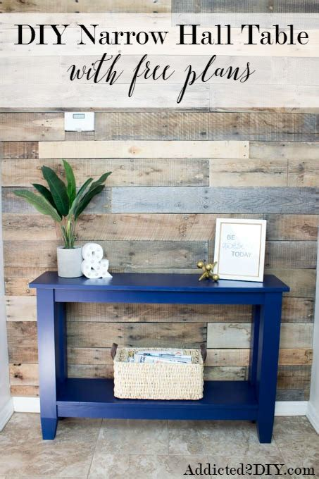Narrow Hall Table Diy