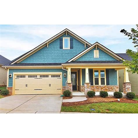 Narrow Home Plans With Attached Garages