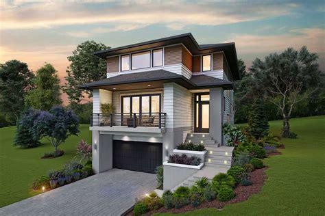 Narrow Home Plans With Garage On A Slope