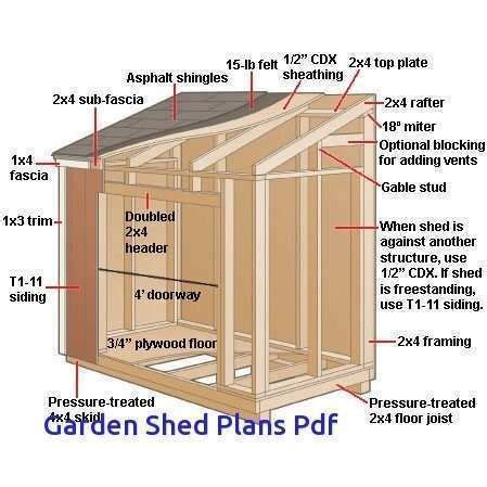 Narrow Shed Plans Free