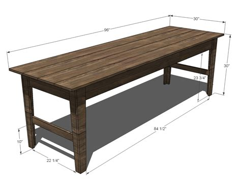 Narrow-Dining-Table-Plans