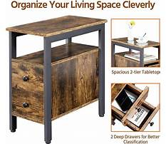 Best Narrow couch end table with drawers