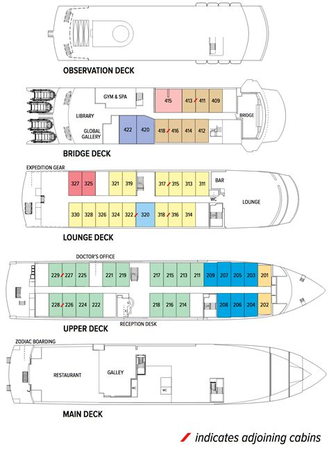 National Geographic Endeavor Deck Plan