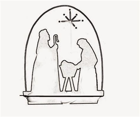 Nativity Scene Templates Free