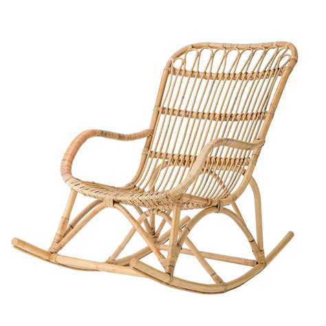 Natural Rattan Rocking Chair