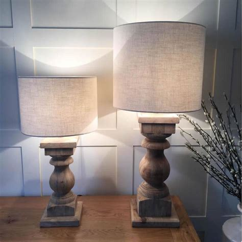 Natural Wood Table Lamps