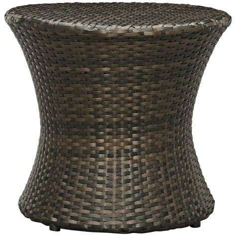 Natural wicker end tables for outside patio Image