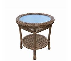 Best Natural wicker end tables for outside patio