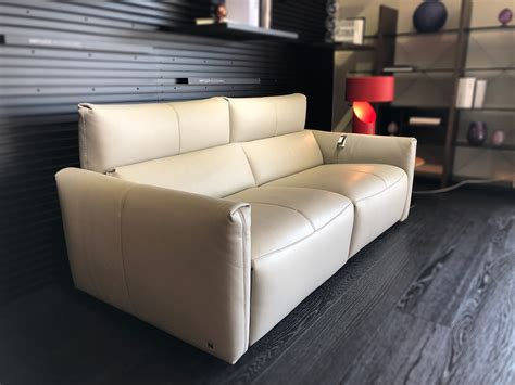 Natuzzi Reclining Sofa Long