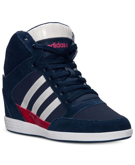 Navy Blue Adidas Wedge Sneakers
