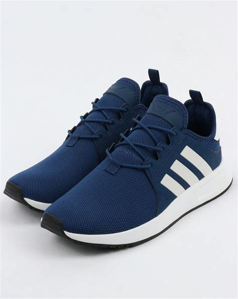 Navy Blue And White Adidas Sneakers
