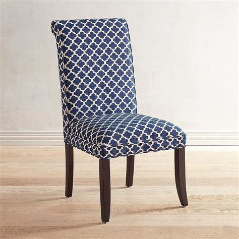 Navy Blue Upholstered Dining Chairs