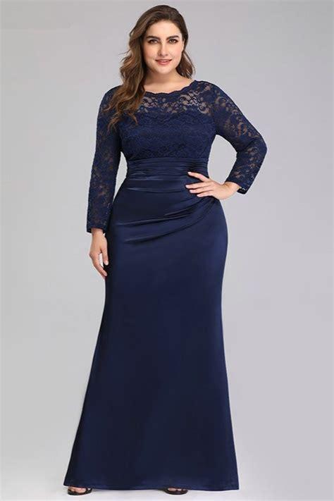 Navy Blue Formal Dress Plus Size