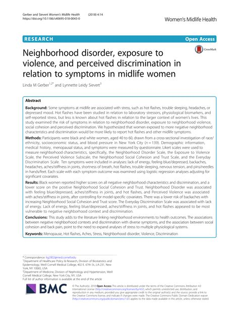 [pdf] Neighborhood Disorder Exposure To Violence And Perceived .