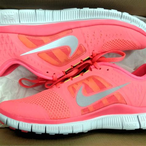 Neon Coral Nike Sneakers