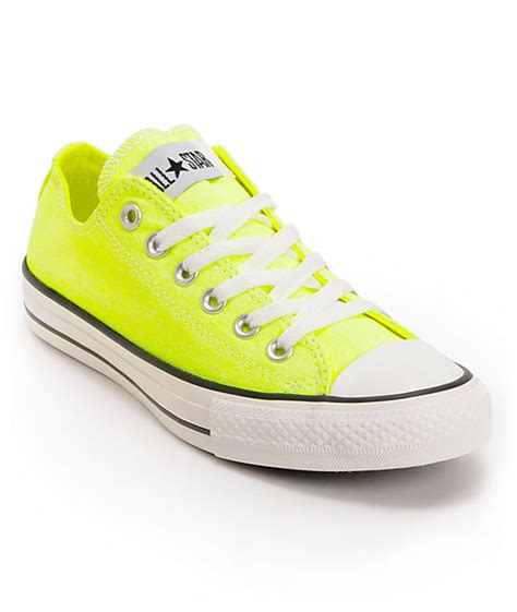 Neon Yellow Converse Sneakers
